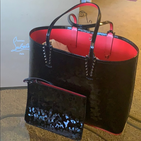 91e76f257aa Christian Louboutin patent leather purse
